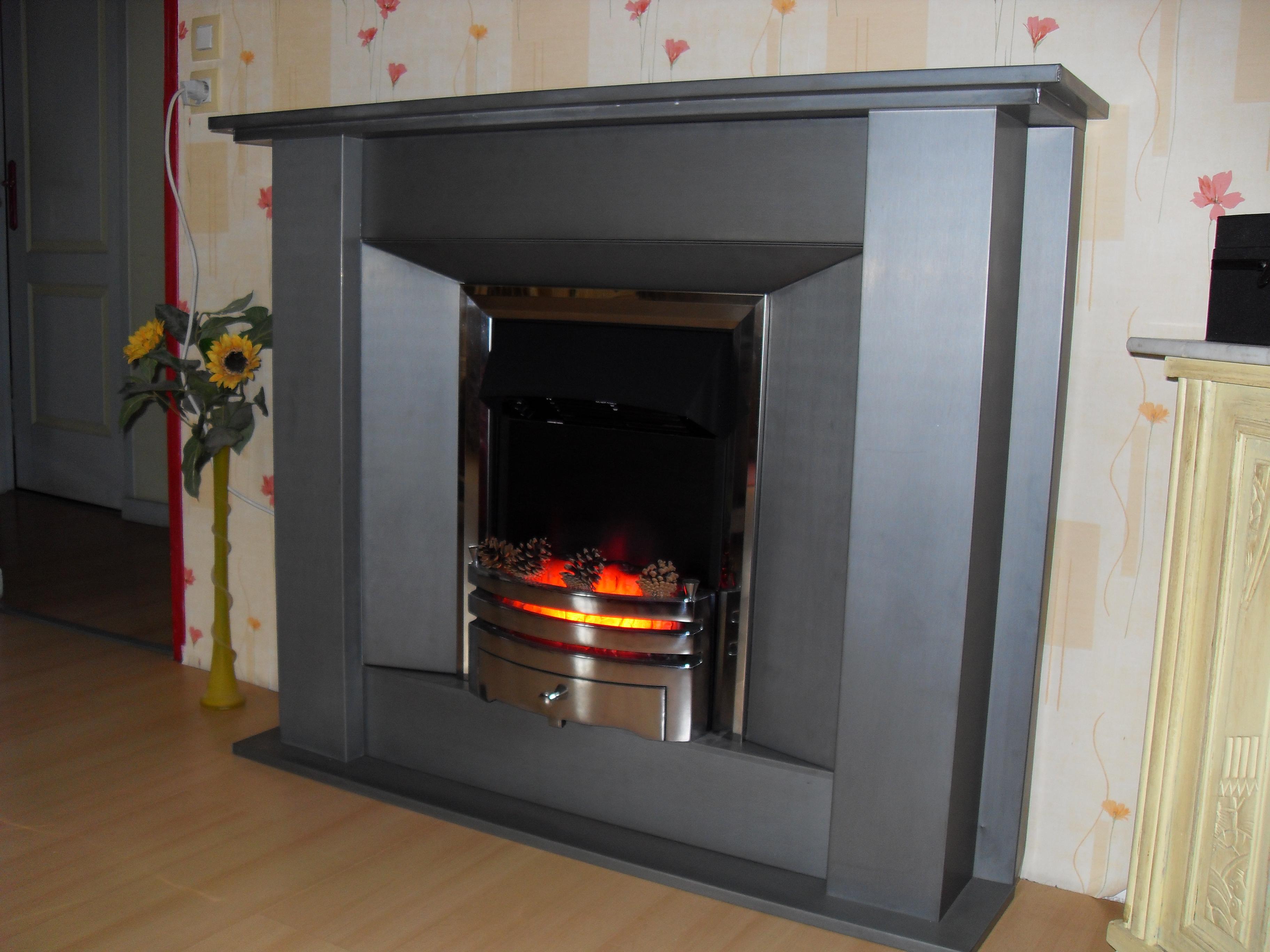 Habillage cheminée en Zinc